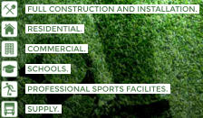 FULL CONSTRUCTION AND INSTALLATION.    RESIDENTIAL.    COMMERCIAL.    SCHOOLS.    PROFESSIONAL SPORTS FACILITES.    SUPPLY.